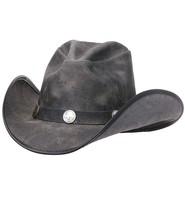 Made in USA Gray Leather Durango Hat w/Buffalo Nickel Hatband #H67CYCLONE
