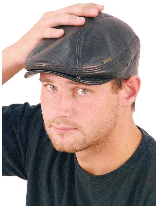 Made in USA Soft Lambskin Leather Ivy Cap #H9015K
