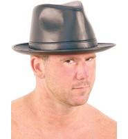 Made in USA Leather Curl Rim Fedora - Italian Hat #H9902K