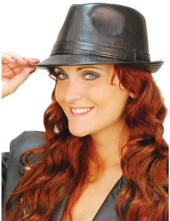 Black Short Rim Fedora Hat #HC0250K