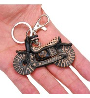 Leather Harley Motorcycle Key Chain w/Claw Clip #KC4036BIKE
