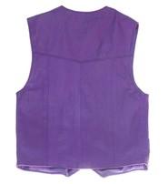 Childrens Purple Leather Vest #KV1230PURP