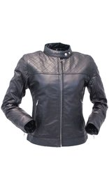 Jamin Leather Black Lambskin Leather Jacket w/Quilted Pattern #L1401006ZK (XL-2X)