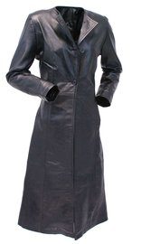 Jamin Leather Extra Long Lambskin Leather Trench Coat for Women #L14020LL