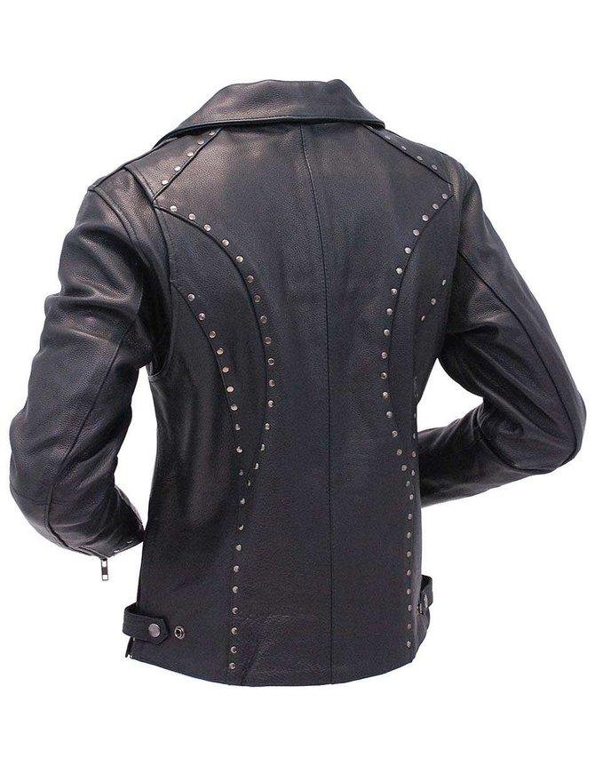 Milwaukee Milwaukee Stud Trim Women's Premium Motorcycle Jacket w/CCW Pockets #L1948ZRK