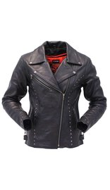 Milwaukee Milwaukee Stud Trim Women's Premium Motorcycle Jacket w/CCW Pockets #L1948ZRK