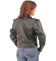 Jamin Leather Ladies Cropped Leather Motorcycle Jacket #L200