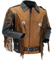 Tiger King Special - Womens / Boys Fringe Leather Jacket #L206ZFBN