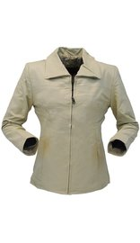 Sand Color Lightweight Women's Leather Coat #L22T (S-L)