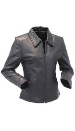 Lambskin Leather Coat for Women - Classic #L230K (S-3X)