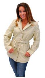 Cream White Belted Button Up Coat #L2491BTT