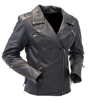 Milwaukee Women's Vented Motorcycle Jacket w/Studs & Stitched Back #L2525VZGK