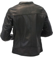 Milwaukee Milwaukee Vented Naked Leather CCW Scooter Jacket for Women #L25510VZK