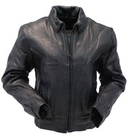 Women's Heavy Vented Bomber Motorcycle Jacket #L286VZK