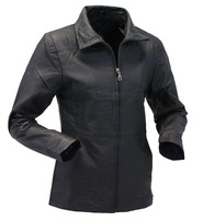 Lightweight Leather Jacket w/Zip Through Collar #L2K