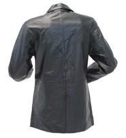 Long Full Figured Women's Lambskin 2 Button Blazer #L418BTK