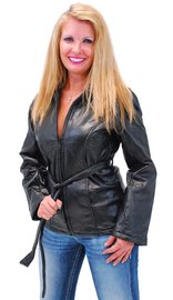 Women's Belted Leather Parka Special #L5055PBTK (S-4X)