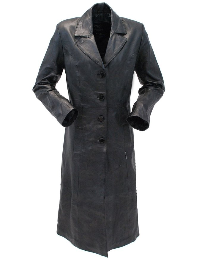 Jamin Leather Leather Trench Coat for Women #L506LP