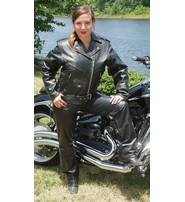 Jamin Leather Ladies Leather Motorcycle Jacket w/Zip Out Lining #L52LZ
