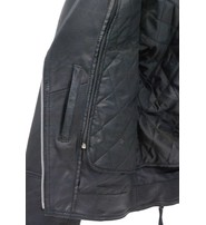 Jamin Leather Riveted Women's Black Leather Lambskin MC Jacket #L657LRZK