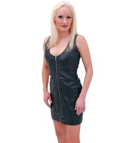 Jamin Leather PLUS SIZE Zip Front Lambskin Leather Dress #LD13070ZK