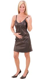 Jamin Leather Lamb Missy Tank Leather Dress #LD3083