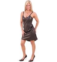 Jamin Leather Lamb Missy Tank Leather Dress #LD3083