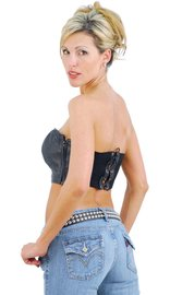 Jamin Leather Strapless Leather Bustier Top #LH2084K (M-5X)