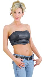 Jamin Leather Strapless Leather Bustier Top #LH2084K