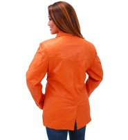 Tall Women's Mango Two Button Lambskin Leather Blazer #L-M1121BTO