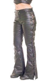 Jamin Leather Side Lace Leather Pants for Women #LP2110L