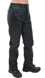 Unik Heavy Buffalo Women's Motorcycle Leather Pants #LP375K (4-14)