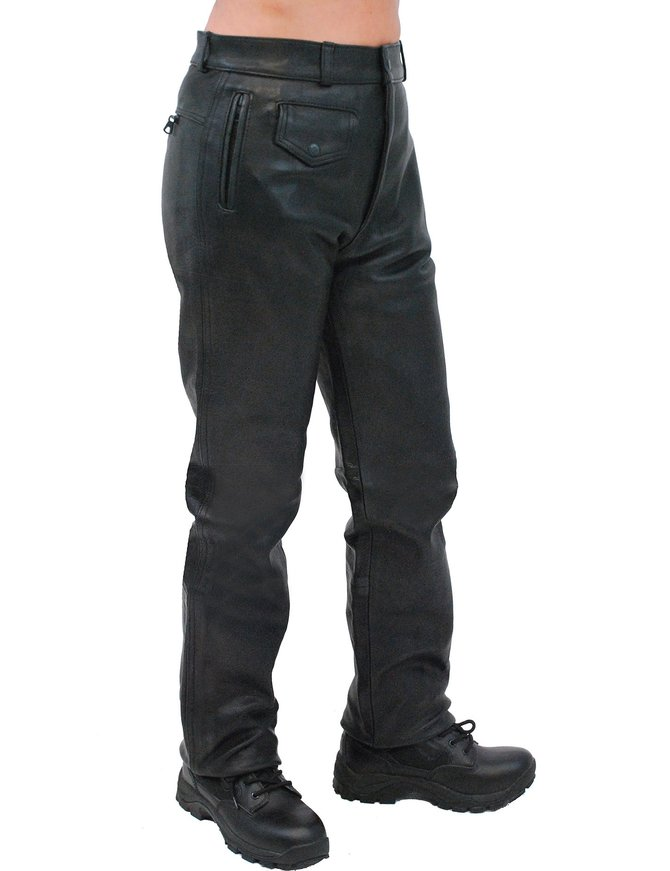 Unik Heavy Buffalo Women's Motorcycle Leather Pants #LP375K