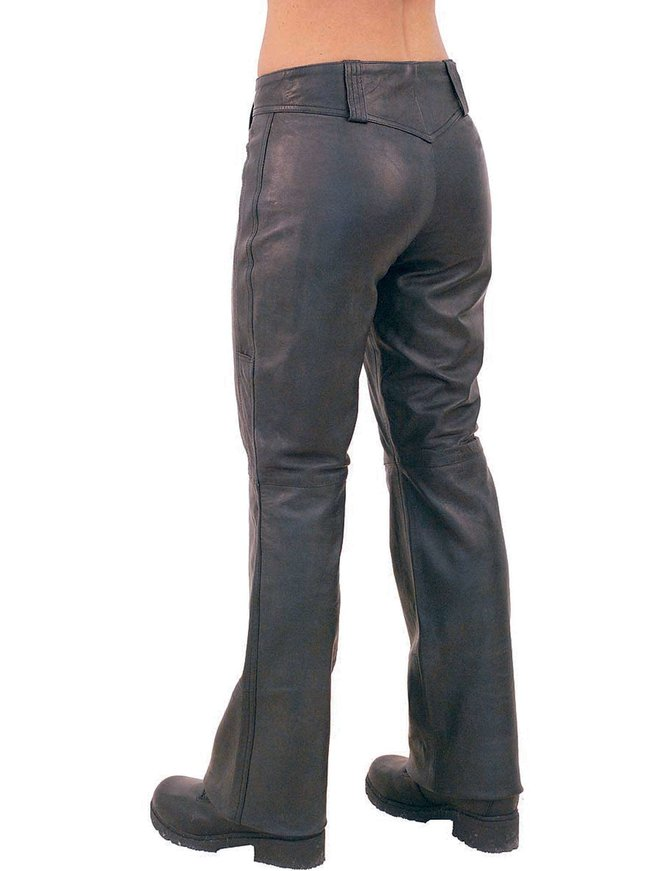 Jamin Leather Bell Bottom Lace Up Leather Pants #LP505LL