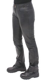 Jamin Leather Women's Premium Lambskin Leather Skinny Jeans #LP9023K