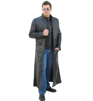 Jamin Leather Extra Long Sleeveless Leather Trench Coat #M1008TK