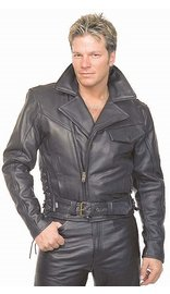 Super Heavy Leather Motorcycle Jacket with Zip Out and Side Lace #M1054LZ (40 only)