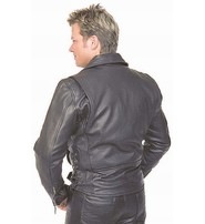 Super Heavy Leather Motorcycle Jacket with Zip Out and Side Lace #M1054LZ