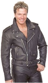 Jamin Leather Classic Leather Motorcycle Jacket for Men #M110EC