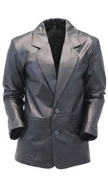 Jamin Leather Two Button Lambskin Leather Blazer / Sports Coat #M118K