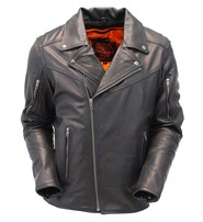 Milwaukee Premium Leather Vented Motorcycle Jacket w/Dual CCW Pockets #M1516GVZK