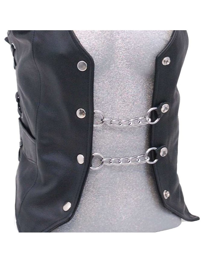 Jamin Leather Nickle Plated Vest Chains #VC1