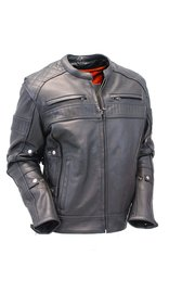 Milwaukee Premium Leather Vented Scooter Jacket w/Dual CCW Pockets #M1545GVZK