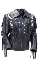 Jamin Leather Bones & Braids Fringed Leather Jacket #M1706FBB