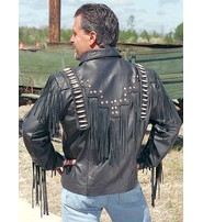 Jamin Leather Bones & Braids Fringed Leather Jacket #M1706FBB