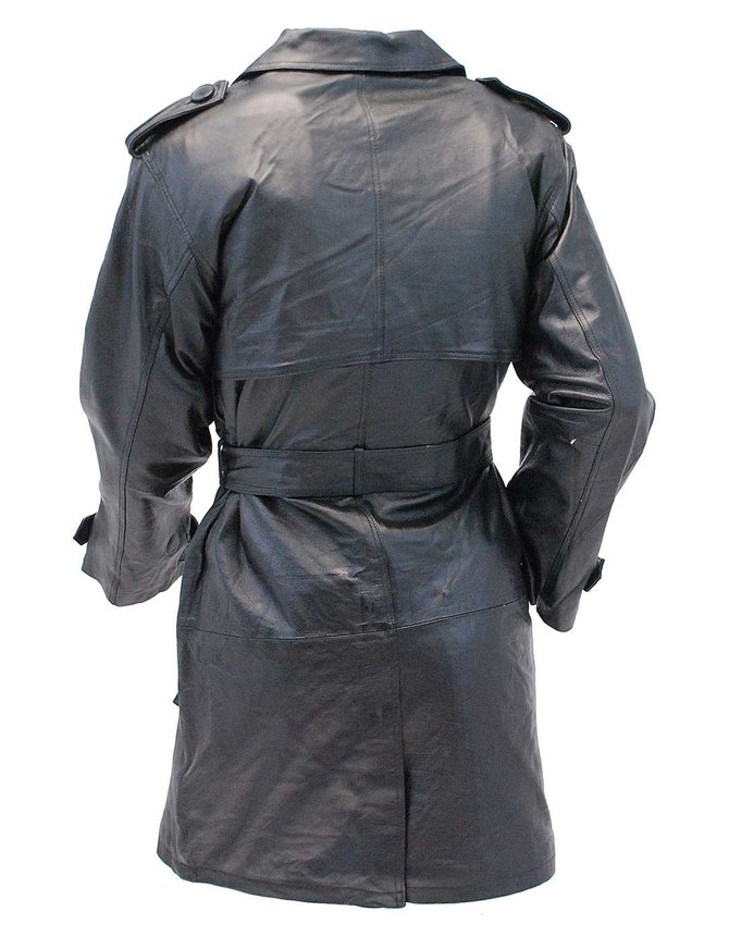 Basic Leather Trench Coat #M2003Z