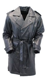 Basic Leather Trench Coat #M2003Z (S-M)