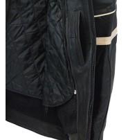 Men's Cream Stripe Vented Racer Motorcycle Jacket w/Armor #M2532AVZC