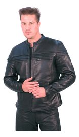 Daniel Smart TALL Vented Naked Leather Motorcycle Jacket - Scooter #M262701TZK