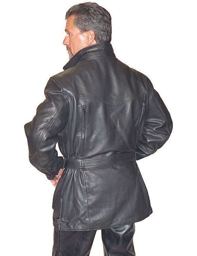Jamin Leather 3/4 Length Cruiser Vented Leather Jacket #M3020VZ